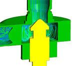 Палубный аэрофинишер. CFD анализ клапана управления системы гидравлического торможения