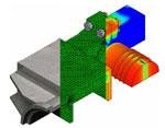 Разработка методики инженерного расчета сложных пространственных конструкций с учетом болтового соединения и множественного контактного взаимодействия