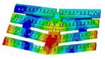 КЭ исследование 3-D напряженно-деформированного состояния блока W-LBSRP дивертора токамака JET под действием электромагнитных нагрузок