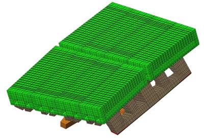 3D FE model of the W-LBSPR block of the JET tokamak divertor
