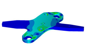 CAD/FEA/CAE, CompMechLab: Equivalent von Mises stress distribution in the W-LBSPR block (fragment)