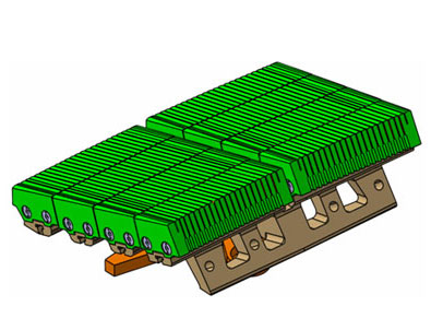 CATIA V5  3D model of the W-LBSPR block of the JET tokamak divertor