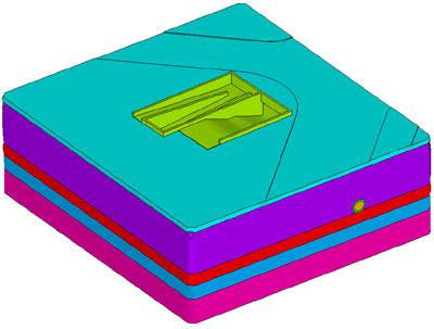 3D CAD модель перекрестка с предложенным вариантом защиты коллектора