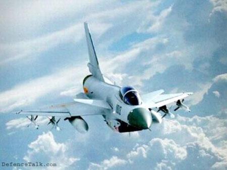 Китайский истребитель J-10A в полете