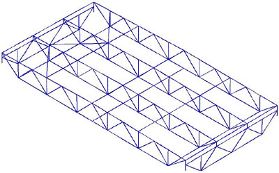 CAD модель. Характерный повторяющийся элемент конструкции