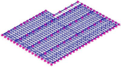 CAD-модель металлического каркаса дистрибьюционного склада