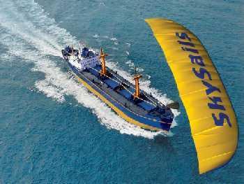 Парус для современных большегрузных судов разработала компания SkySails