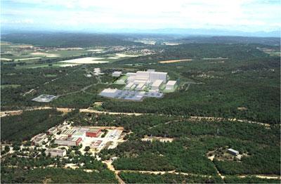 Архитекторы уже вписали ITER в реальный пейзаж в окрестностях Кадараша