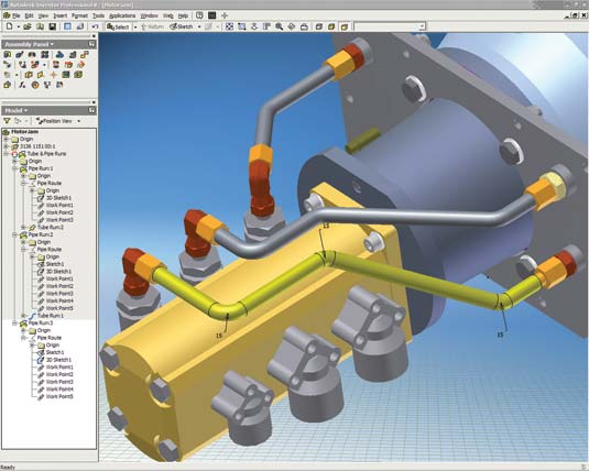 how to make a pipe in inventor