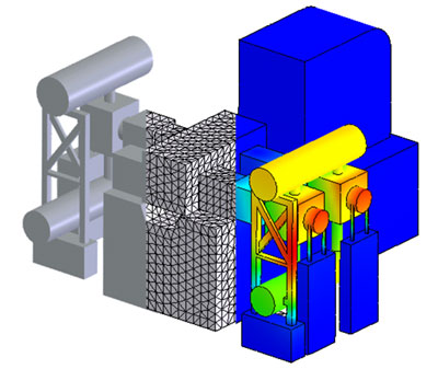 3D CAD/FEM/CAE of the reciprocating compressor