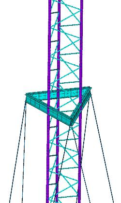 КЭ модель телекоммуникационной мачты