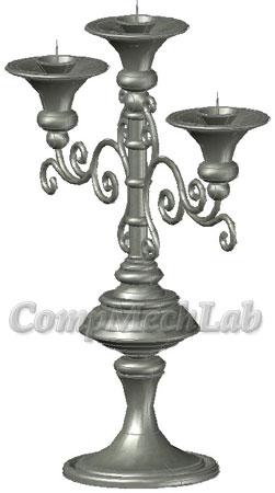 3D CAD модель подсвечника. AutoCAD.