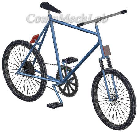 3D CAD модель велосипеда. AutoCAD.