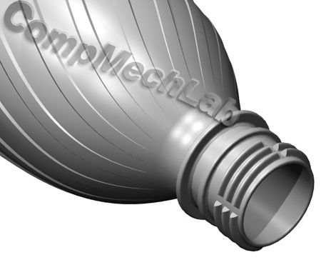 CAD модель пластиковой бутылки. SolidWorks