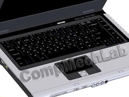SolidWorks CAD модель ноутбука