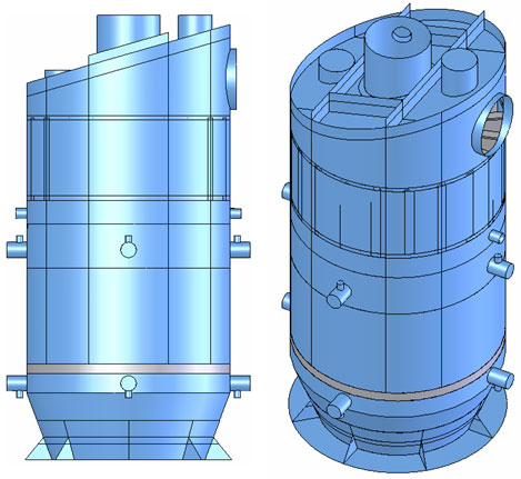 SSH-500-1 separator-superheater's 3D geometrical model