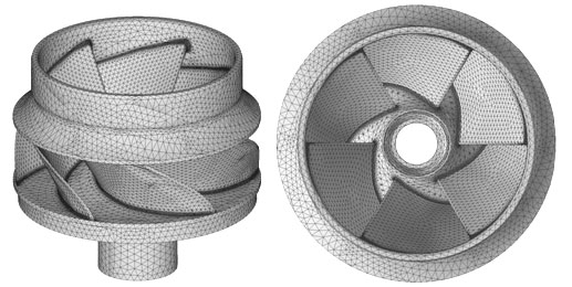 The whole driving wheel 3D finite element model