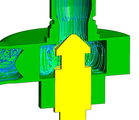 CFD analysis of the control valve for hydraulic braking system