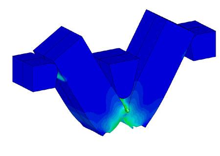 Конечно-элементное моделирование и исследование процесса определения ударной вязкости стали методом двухопорного ударного изгиба (метод Шарпи). Нажмите для просмотра в новом окне
