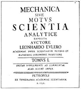 Титульный лист Механики Л. Эйлера