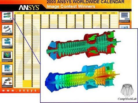 2003_ANSYS Contest_CompMechLab_Конечно-элементное исследование термонапряженного состояния и вибрационного состояния турбокомпрессора газотурбинной установки