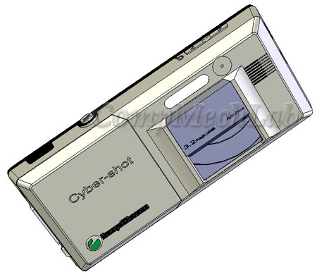Sony Ericsson sell phone CAD model. SolidWorks 2007