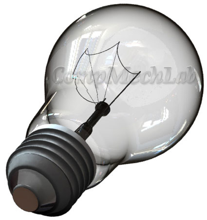 Light bulb CAD model. SolidWorks 2007