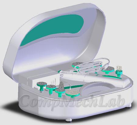 CAD модель маникюрного набора. SolidWorks 2007