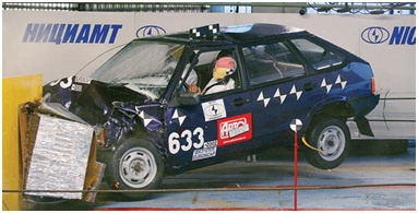 VAZ-2109 crash test results