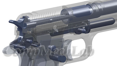 CAD Модель пистолета. SolidWorks 2009
