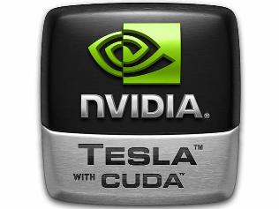 Логотип NVIDIA Tesla with CUDA