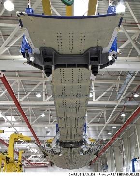Несущая конструкция хвостовой части A350 XWB