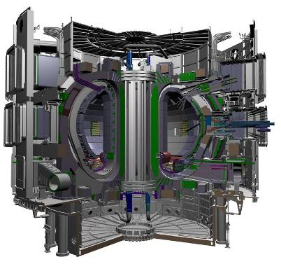 Реактор ITER будет иметь высоту 29 метров и диаметр 28 метров