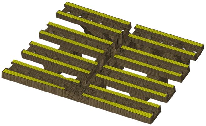 CompMechLab. 3-D КЭ-модель клиновидного держателя облицовки блока W-LBSRP дивертора термоядерного реактора JET