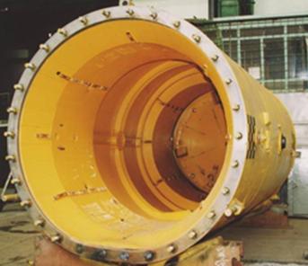 Общий вид контейнера для хранения отработанного ядерного топлива