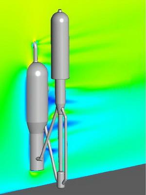 CompMechLab_НПЗ_Конечно-элементные расчеты аэродинамики, теплового и термонапряженного состояния, оценка статической и циклической прочности установки каталитического  крекинга
