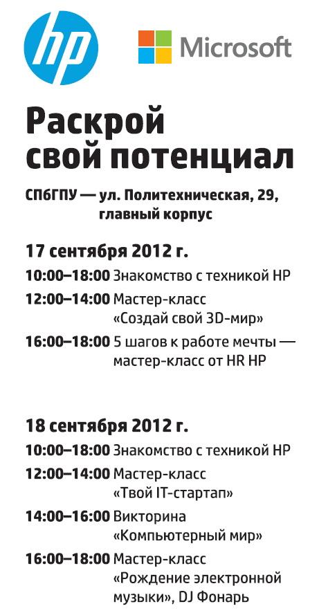2012_0917-18_Программа дней HP в СПбГПУ