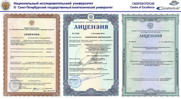 Лицензии НИУ СПбГПУ
