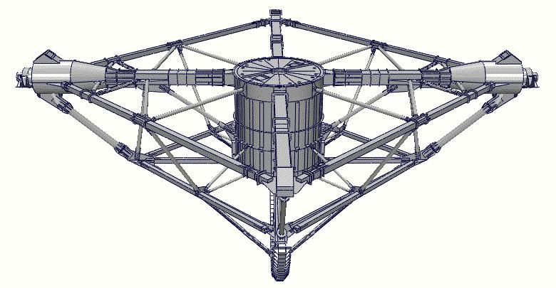 Анимация: 3-D геометрическая модель ПОК-пирамиды РТФ-32