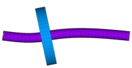 Собственная форма свободных колебаний однодиского ротора с учетом гироскопического эффекта. ANSYS