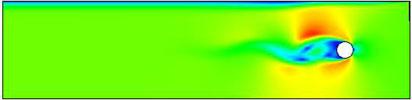 Формирование вихревой дорожки Кармана. ANSYS CFX