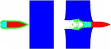CompMechLab_Пробивание алюминиевой плиты пулей в оболочке (ANSYS AUTODYN)
