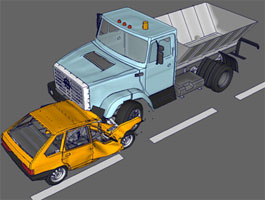 Finite Element Modeling of a frontal crash between VAZ-21093 and ZIL ...