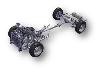 Модель двигателя и шасси