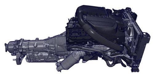 Полномасштабная конечно-элементная модель двигателя