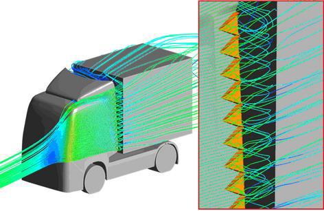 Аэродинамика автомобиля с предустановленными турбулизаторами