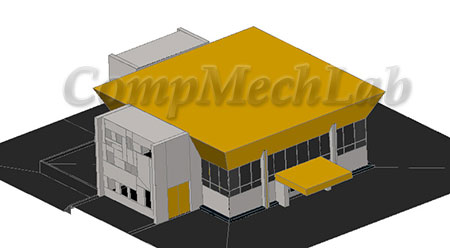 Модель станции метро Политехническая. AutoCAD 2007