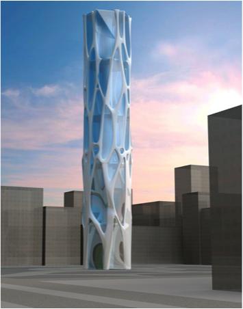 Экзоскелет для небоскреба, разработанный в Inspire