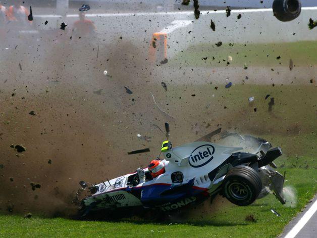 Авария Роберта Кубицы в 2007 году на соревнованиях F1
