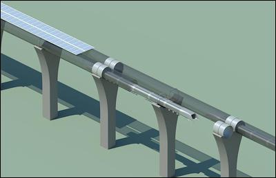 Тоннель для поезда Hyperloop